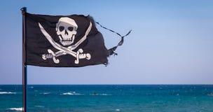 вектор типа пирата имеющегося флага стеклянный Стоковое фото RF