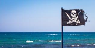 вектор типа пирата имеющегося флага стеклянный Стоковое Фото