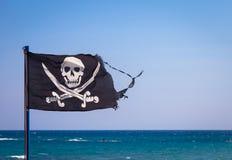 вектор типа пирата имеющегося флага стеклянный Стоковые Фотографии RF
