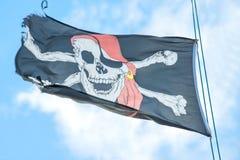 вектор типа пирата имеющегося флага стеклянный Стоковое Изображение