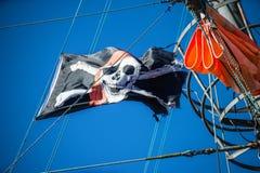 вектор типа пирата имеющегося флага стеклянный Стоковые Изображения RF
