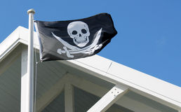 вектор типа пирата имеющегося флага стеклянный Стоковые Фото