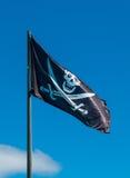 вектор типа пирата имеющегося флага стеклянный Стоковое Изображение RF