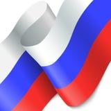 вектор типа России имеющегося флага стеклянный Развевая красочный флаг России Стоковые Изображения RF