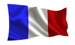 вектор типа Франции имеющегося флага стеклянный Серия флагов ` мира ` Страна - флаг Франции Стоковое фото RF
