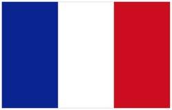 вектор типа Франции имеющегося флага стеклянный Стоковое Изображение