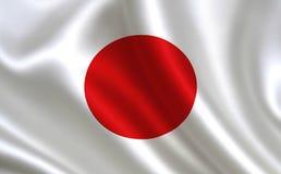 вектор типа японии имеющегося флага стеклянный Серия флагов ` мира ` Страна - флаг Японии Стоковое Фото