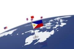 вектор типа philippines имеющегося флага стеклянный Стоковая Фотография
