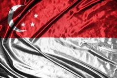 вектор типа singapore имеющегося флага стеклянный флаг на предпосылке Стоковые Фотографии RF