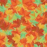 Вектор ткани осени Картина кленового листа безшовная вектор иллюстрации листва предпосылки красивейший Стоковое Изображение RF