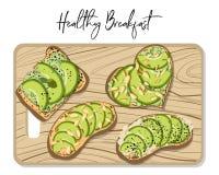 Вектор тоста авокадоа бесплатная иллюстрация