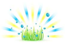 вектор травы предпосылки Стоковые Фото