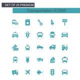 Вектор транспортов установленный значками бесплатная иллюстрация