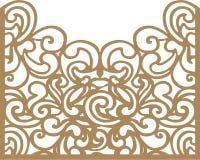 вектор тыквы иллюстрации halloween карточки декоративный Шаблон вырезывания лазера Стоковое Изображение