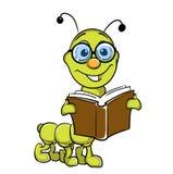 вектор удерживания гусеницы книги Стоковое Изображение