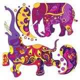 Вектор украсил индийский слона Стоковые Фото