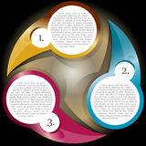 вектор уровней 3 цвета диаграммы предпосылки иллюстрация штока