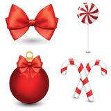 Вектор установил украшения рождества с символами, элементами значков бесплатная иллюстрация