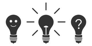 Вектор установил электрических лампочек значка пиктограммы r иллюстрация вектора
