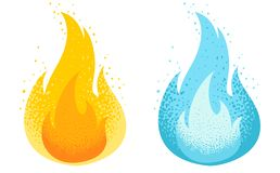 Вектор установил 2 значка огня бесплатная иллюстрация