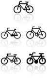 вектор установленного символа bike Стоковое Фото