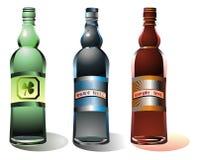 вектор установленный бутылками Стоковая Фотография RF