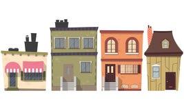 вектор установленный домами Стоковая Фотография