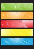 вектор установленный знаменами Стоковые Фото