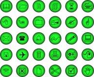 вектор установленный иконами Стоковое Изображение