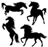 вектор установленный лошадями бесплатная иллюстрация