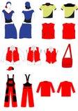 вектор установленный одеждами Стоковое Изображение