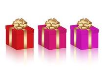 вектор установленный подарками Стоковые Фото