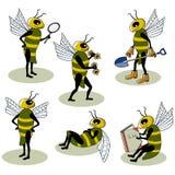 вектор установленный пчелами Стоковые Фотографии RF