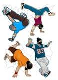 вектор установленный breakdancers Стоковые Фото