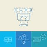 вектор установленный иконами Стоковое Фото