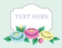Вектор установленный с винтажными цветками иллюстрация штока