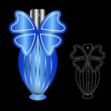 вектор дух сетки иллюстрации чертежа бутылки Стоковое Изображение
