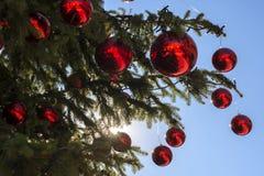 вектор улицы светильника иллюстрации eps рождества 8 Стоковое Изображение RF