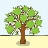 вектор фамильного дерев дерева Стоковые Изображения