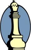 вектор ферзя части игры шахмат Стоковое Изображение RF