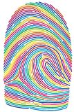 вектор фингерпринта иллюстрация штока