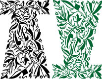 вектор флористического орнамента элегантности Стоковые Фото