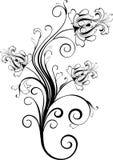 вектор флористического орнамента Стоковое Изображение RF