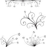 вектор флористического орнамента Стоковое Фото
