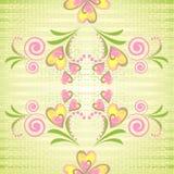 вектор флористической картины безшовный Стоковое Изображение