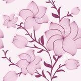 вектор флористической картины безшовный Стоковая Фотография