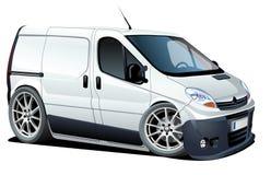 вектор фургона поставки шаржа груза Стоковая Фотография