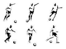 вектор футбола игрока Стоковое Изображение RF