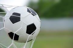 вектор футбола цели шарика Стоковые Фото