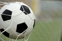 вектор футбола цели шарика Стоковые Изображения RF